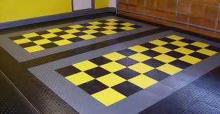 garage floor tile style home design by larizza