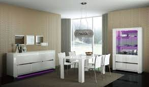 Modern White Dining Room Chairs Illuminates A Solid Walnut Dining - White modern dining room sets
