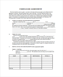 8 land lease agreement templates free sample example