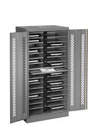 laptop charging station home storage rack tennsco storage made easy laptop charging station