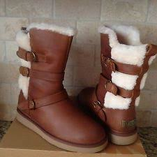 womens sheepskin boots size 11 ugg australia becket chestnut boots womens size 11 m ebay