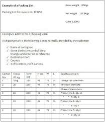 shipping packing list template blank packing list template