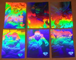 holo series fleer skybox 1996 single silver hologram cards
