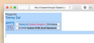design html email signature dreamweaver portfolio site of timmy cai creator of meaningful web and print