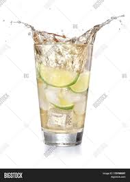 cocktail splash iced lemonade soda glass splashing image u0026 photo bigstock