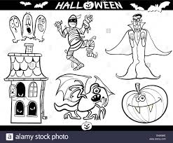 cartoon illustration of halloween themes vampire or count dracula
