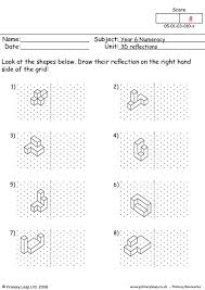 reflections worksheet primaryleapcouk 3d reflections worksheet