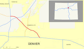 Denver Metro Zip Code Map by Interstate 270 Colorado Wikipedia