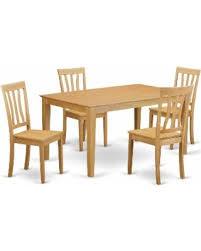 Round Dinette Table Big Deal On Caan5 Oak 5 Piece Dinette Table Set Kitchen Dinette
