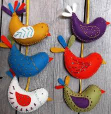 corinne lapierre felt craft kit summer birds bibelot