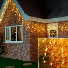 outdoor led icicle christmas lights outdoor led icicle lights connectable white cable
