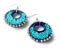quiling earrings paper quilling earrings handmade fashion earrings for women