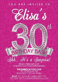 birthday invites fascinating 30th birthday invitations ideas