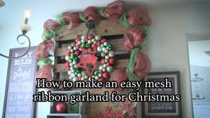how to make a halloween wreath with mesh ribbon how to create a christmas garland with mesh ribbon youtube