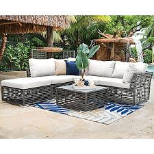 Beautiful Panama Jack Bedroom Furniture by Panama Jack Graphite 6 Piece Outdoor Sectional Set In Grey Bed