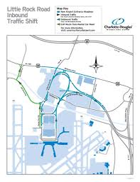 Charlotte Airport Gate Map Inbound Lanes Of Clt U0027s New Entrance Road Open