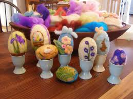 easter egg display egg ceptional easter egg felting kit
