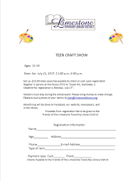 how to write a resume for teens limestone township library district teen art and craft show