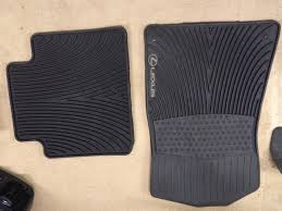 lexus rx 350 black floor mats va oem lexus all season floor mats clublexus lexus forum