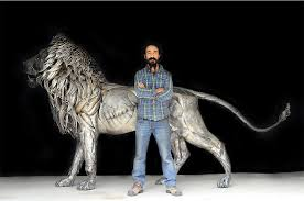 lion statue metal lion sculpture by selcuk yilmaz by selcukk on deviantart