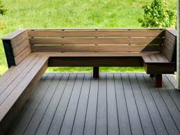 Deck Storage Bench Wooden Deck Benches Plans Built In Wood Deck Benches 12 Photos Of