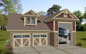 plan 20128ga carriage house apartment with rv garage carriage