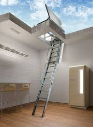 retractable attic ladder for roof hatch fire resistant home