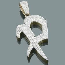 custom pendant 14k gold alphabet custom made initial diamond letter pendant 4 95ct