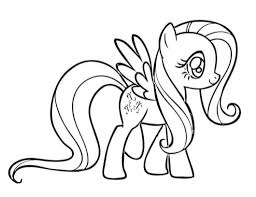 pony coloring pages fluttershy intended encourage
