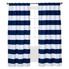 Blue And White Striped Drapes Twill Light Blocking Curtain Panel Pillowfort Target