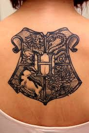 hogwarts crest tattoo pictures to pin on pinterest tattooskid