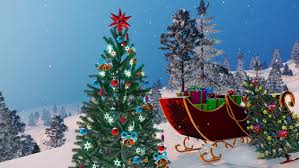 tree in a wonderful winter day handmade animation in