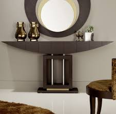 White Foyer Table White Mirrored Entry Table Best Table Decoration