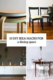 Diy Dining Room Chair Covers by 10 Adorable Diy Ikea Hacks For A Dining Room Or Zone Shelterness
