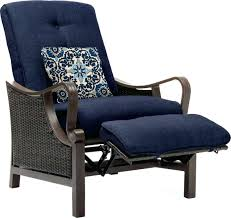 modern hanover strathmere 1 piece outdoor reclining patio lounge