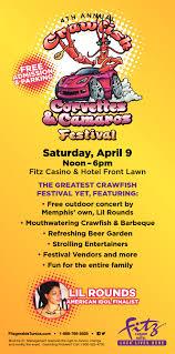 fitz casino and hotel 4th annual crawfish corvettes and camaros