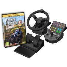 joystick volante volant farming simulator p礬dalier side panel fs15 gold edition pc