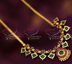 nl6585 kerala palakka mala design necklace south indian
