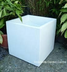 Square Plastic Planters by Large White Terrazzo 50cm Square Pot Planters Woodside Garden