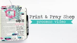 thanksgiving prayer bible bible journaling with august print u0026 pray releases youtube