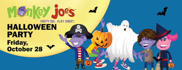 halloween kids cartoons kids halloween event monkey joe u0027s kenosha wi