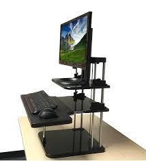 amazon com standing desk uptrak dual level sit stand desk