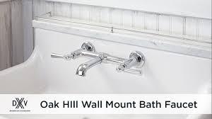 oak hill wall mount faucet by dxv youtube