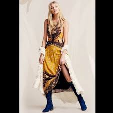 58 off free people dresses u0026 skirts free people yellow maxi