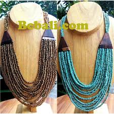 wood beads necklace designs images Two color shown necklace chokers seed bead wood ethnic design jpg