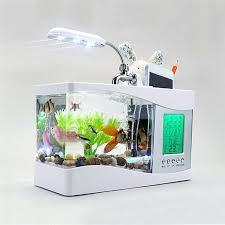 aquarium bureau 2017 populaire usb de bureau mini fish tank aquarium en verre lcd