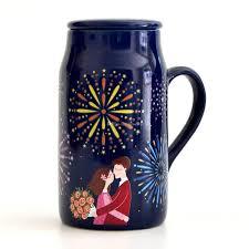 office coffee mugs romantic couple cups magic color changing mug 550ml ceramic mugs