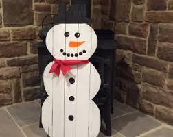 pallet snowman etsy