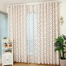 colorful fruit apple pattern white polyester best nursery curtains