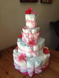 photo baby shower diaper cake image
